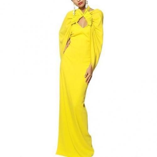 Etro Langes Kleid Aus Viskosecady Mit Cape
