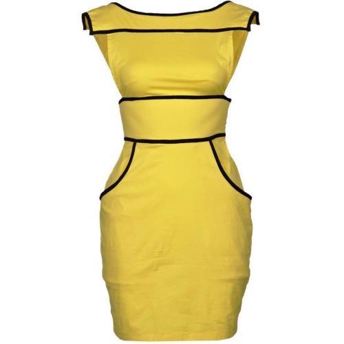 Fairground Naomi Kleid yellow