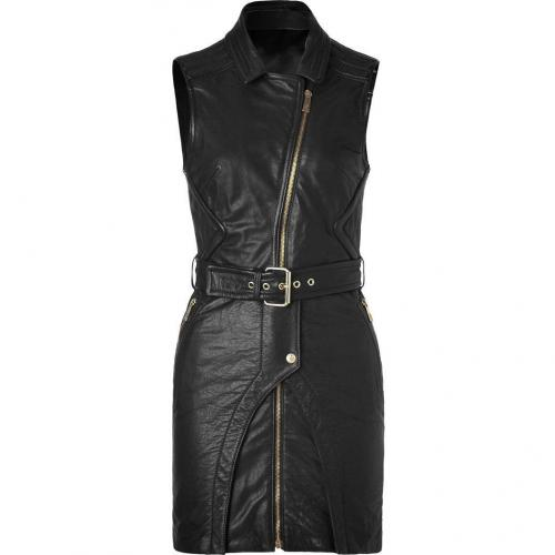 Faith Connexion Black Leather Biker Dress