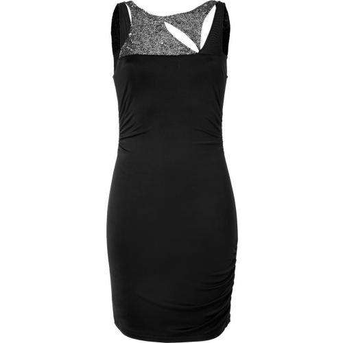 Faith Connexion Black Sequin Trim Jersey Dress