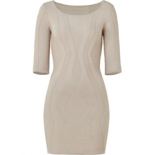 Faith Connexion Taupe Knitted Bandage Dress