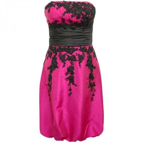 Fashionart Ballkleid pink mit schwarzen Details