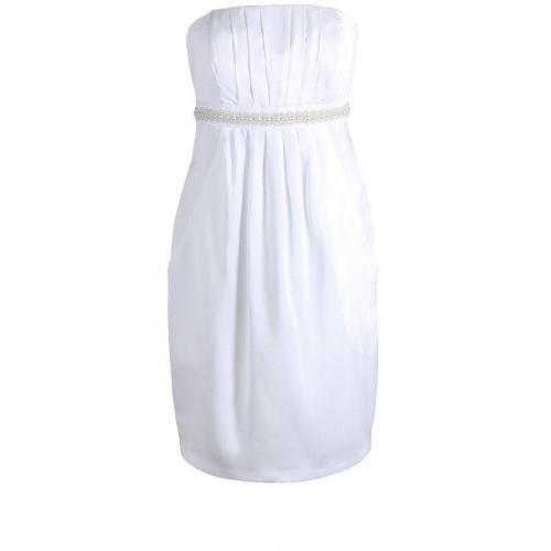 Fashionart Cocktailkleid weiß ärmellos