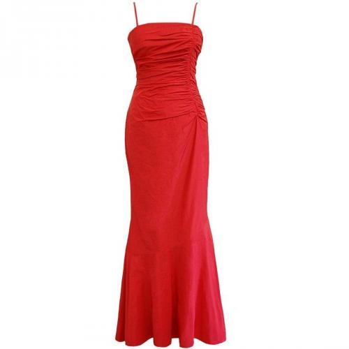Fashionart langes Ballkleid rot mit Trägern