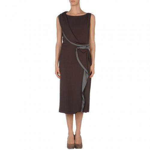Fendi Knielanges Kleid Mittelbraun