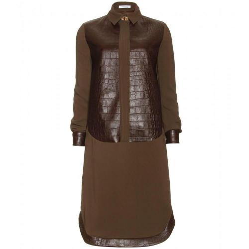 Givenchy Hemdkleid Mit Geprägtem Leder