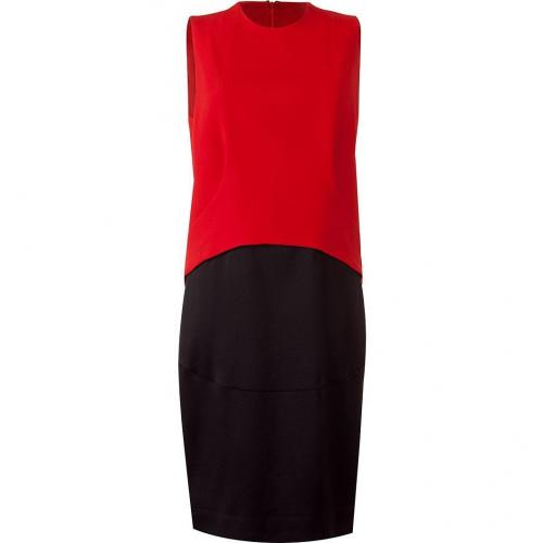 Givenchy Red/Black Block-Colored Kleid