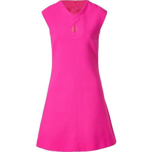 Goat Hot Pink Romeo Keyhole Wool-Crepe Shift Dress