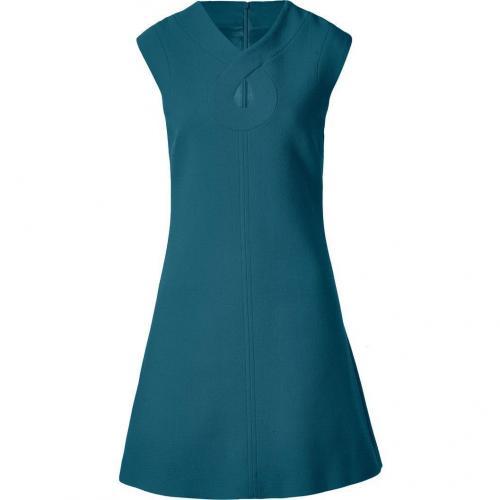 Goat Ink Romeo Keyhole Wool-Crepe Shift Dress