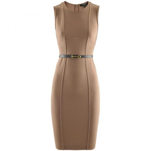 Gucci Toffee Bridle Belted Dress