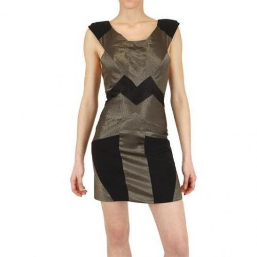 Guishem Kleid Im Metallik Stretch Satin