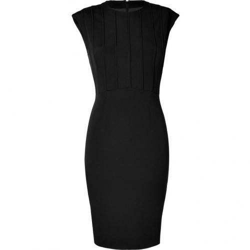 Hakaan Black Cap Sleeve Sheath Dress