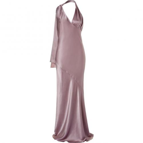 Halston Antique Pink Spiral Cut Kleid