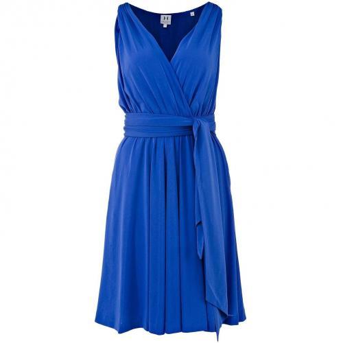 Halston Heritage ärmelloses Kleid Blau