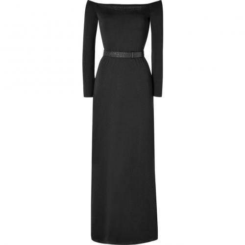 Halston Heritage Black Off The Shoulder Kleid