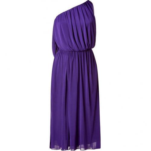 Halston Purple One Shoulder Kleid