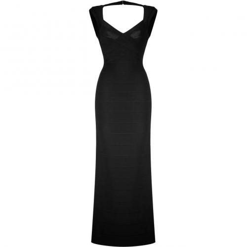 Hervé Léger Black Sleeveless Bandage Gown