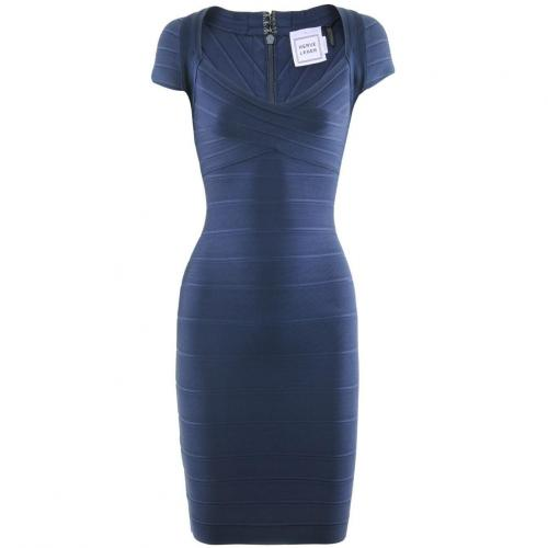 Herve Leger Marine Dress Raquel
