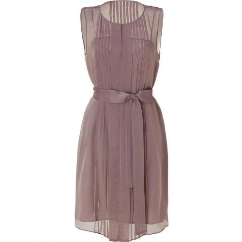 Hoss Intropia Antique Mauve Pleated Dress