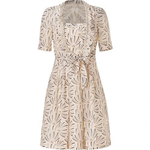 Hoss Intropia Nude Printed Dress