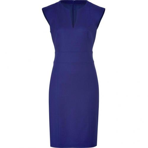 Hugo Dark Purple Wool Stretch Kacy Dress