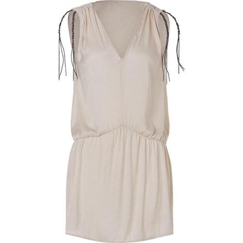Iro Cream Sleeveless Tunic-Dress