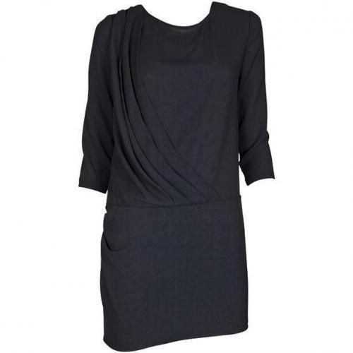 Iro Kleid mit drapierter Front Wallis noir