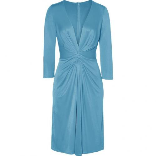 Issa Aquamarine Silk Jersey Dress