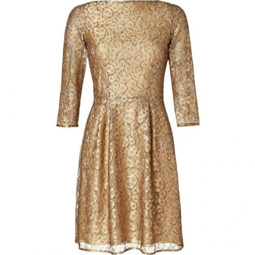 Issa Gold Lace Babushka Dress