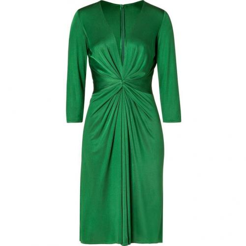 Issa Green 3/4 Sleeve Gathered Silk Jersey Dress for STYLEBOP.com