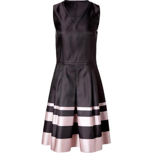 Jil Sander Navy Black/Rose Silk-Satin Dress