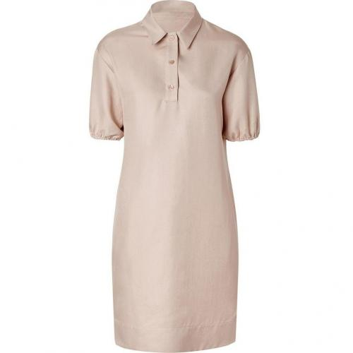 Jil Sander Navy Blush Silk Shirtdress
