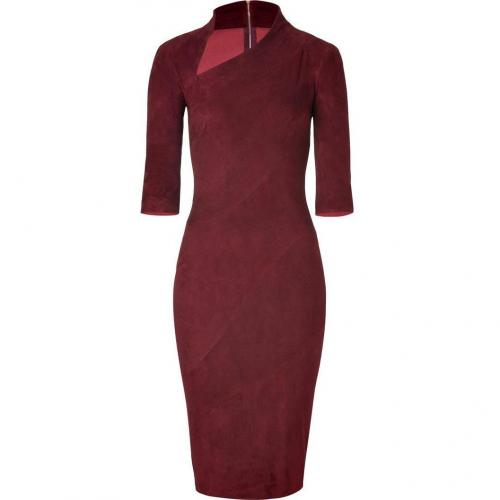 Jitrois Deepest Ruby Suede Dress
