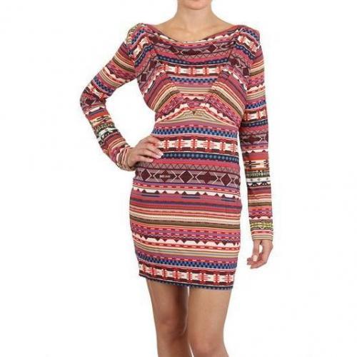 Just Cavalli Drapiertes Bedrucktes Viskose Jersey Kleid