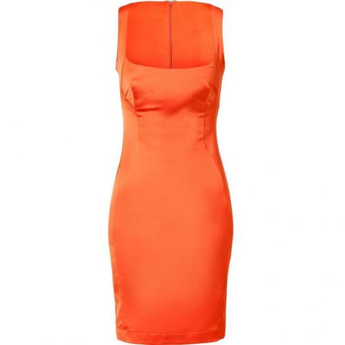 Just Cavalli Fire Orange Balconette Dress