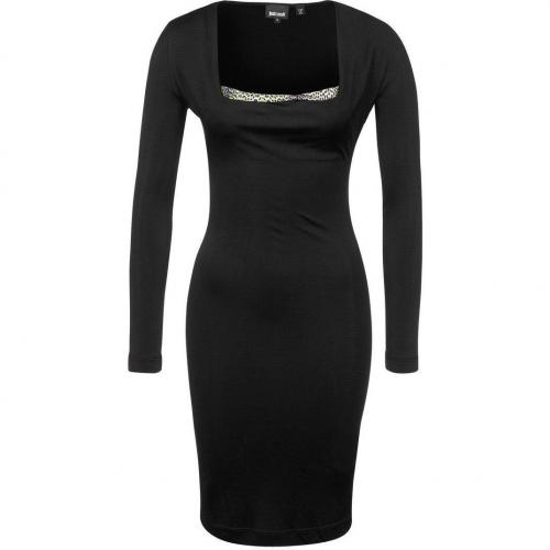 Just Cavalli Jerseykleid schwarz mit Ärmeln