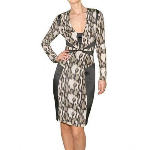 Just Cavalli Kleid Im Viskose Jersey Satin Print