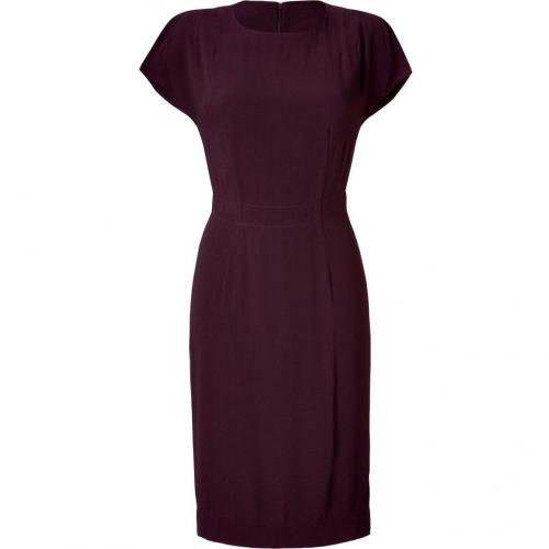 LAgence Bordeaux Crepe Dress with Split Sleeves