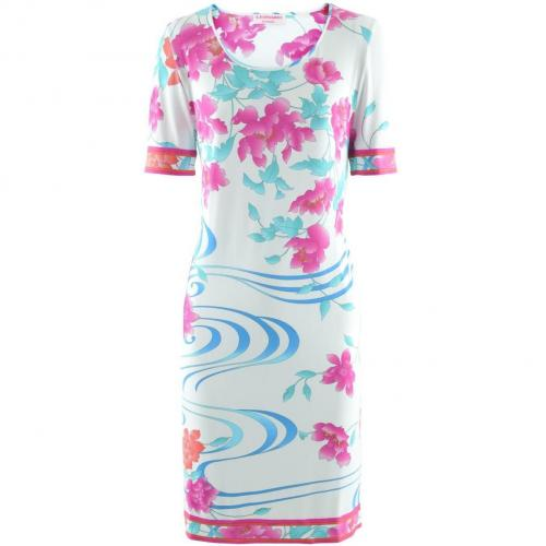 Leonard White Turquoise Dress Garance Flora