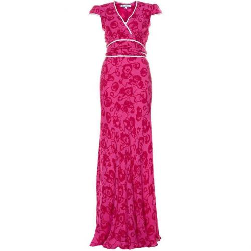Libelula Long Poppy Pansie Maxikleid hot pink