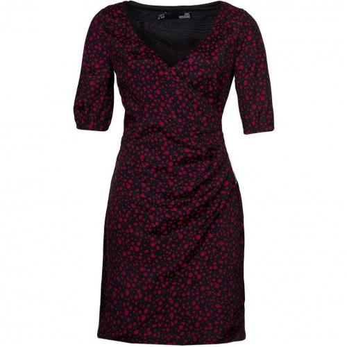 Love Moschino Jerseykleid schwarzrot