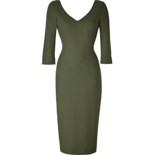 LWren Scott Olive Khaki Deep V-Neck Dress