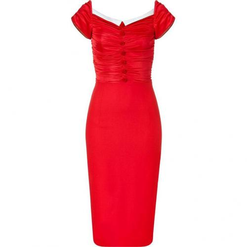 LWren Scott Red Draped Dress