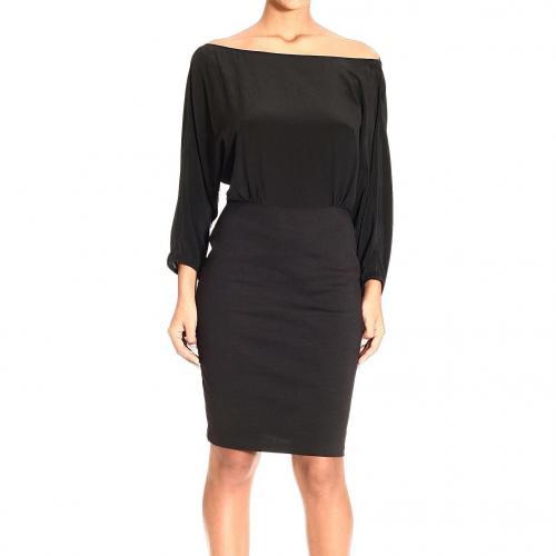 M Missoni Long sleeve silk double fabric dress