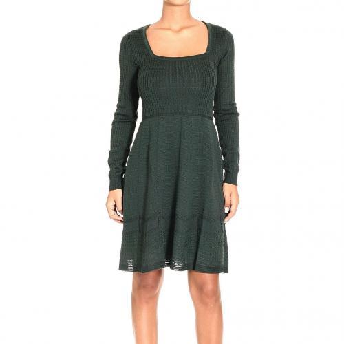M Missoni Long sleeve squared collar dress