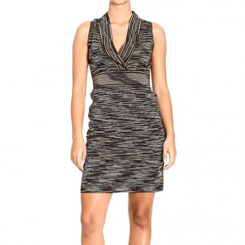 M Missoni Sleeveless v neck stripes dress