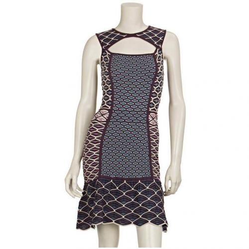 M Missoni Strickkleid Rotgrau