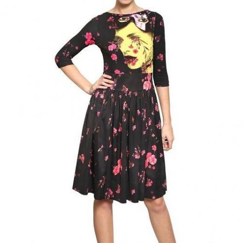 Manish Arora Techno Jersey & Viskose Satin Kleid