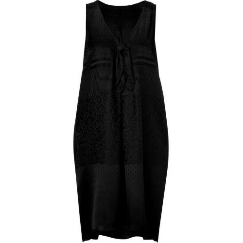 Marc by Marc Jacobs Black Silk Jacquard Dress