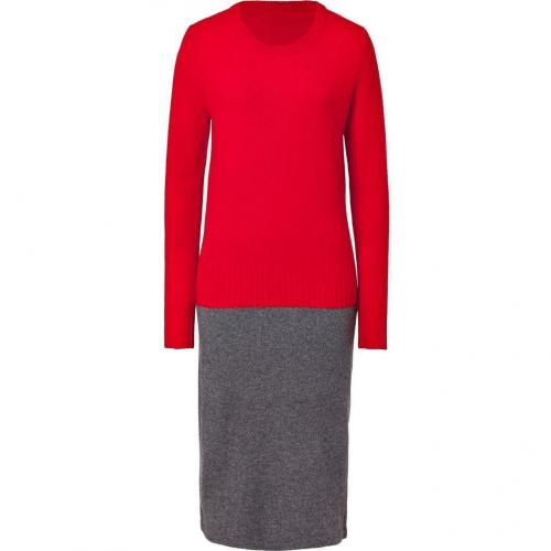 Marc by Marc Jacobs Corvette Red/Heather Grey Merino-Cashmere Ariana Sweater Dress